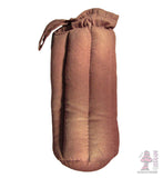 10 inch padded tube case brown canvas