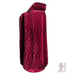 10 inch padded tube case maroon wave
