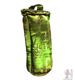 10 inch padded tube case silky green bamboo print
