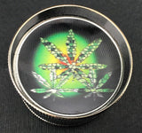 3pc Assorted Weed Leaf Metal Herb Grinder