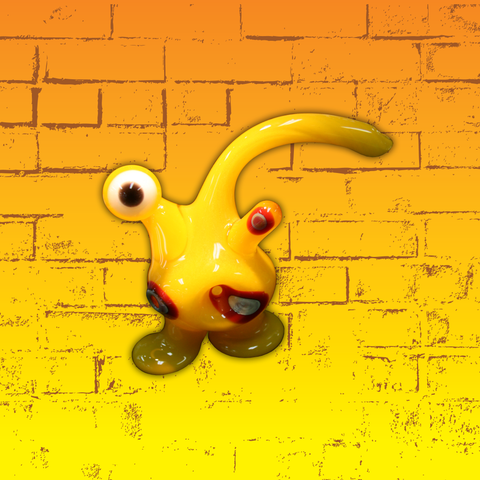 Yellow Cyclopes Alien Down Neck Pipe