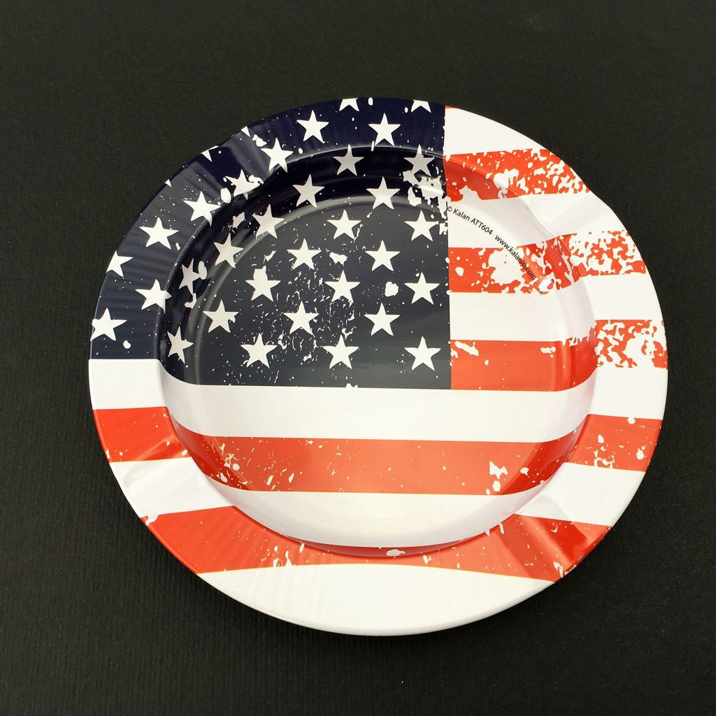 Aluminum Ashtray American Flag