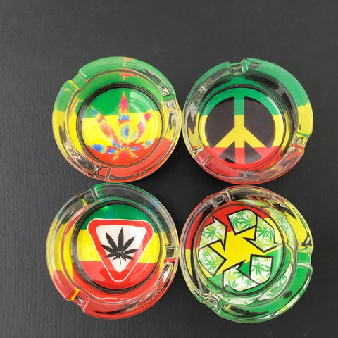Assorted LED Glass Ashtray