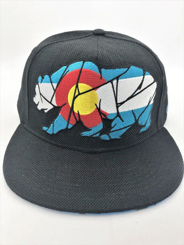 Colorado Mosaic Bear Grassroots Fitted Hat