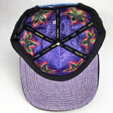 Grassroots Custom Snap Back Hats Alex Grey Cannabis Sutra Black Inside