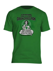 Green Cross Man Myxed Up T-Shirt