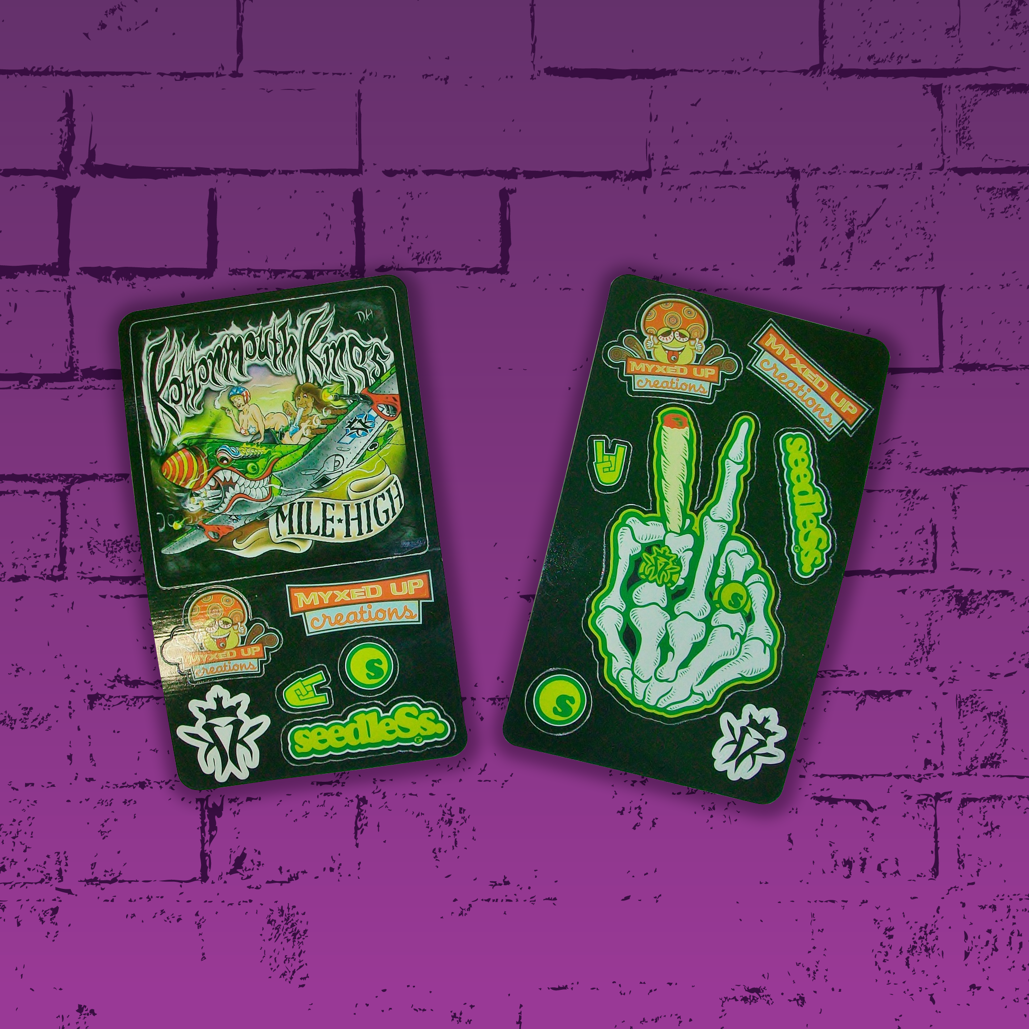 KMK Peace Out Seedless x Myxed Up Collaboration Sticker Packs