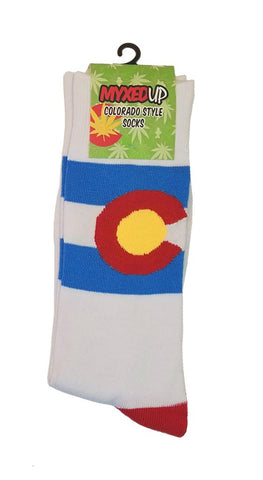Myxed Up Colorado Style Socks Colorado Flag