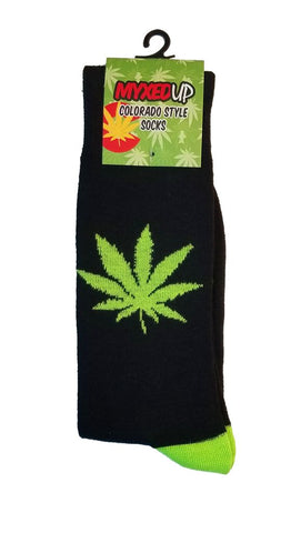 Myxed Up Colorado Style Socks Pot Leaf
