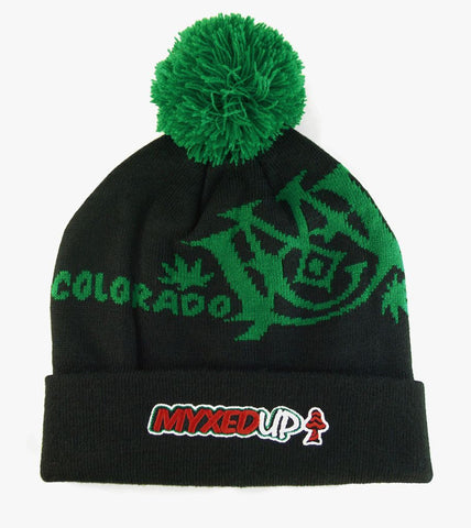 Myxed Up Creations Pom Beanie Hat