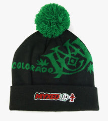 Myxed Up Creations Colorado Style Pom Beanie Hat