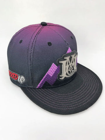 Myxed Up Grassroots Collab Monogram Snap Back Hat