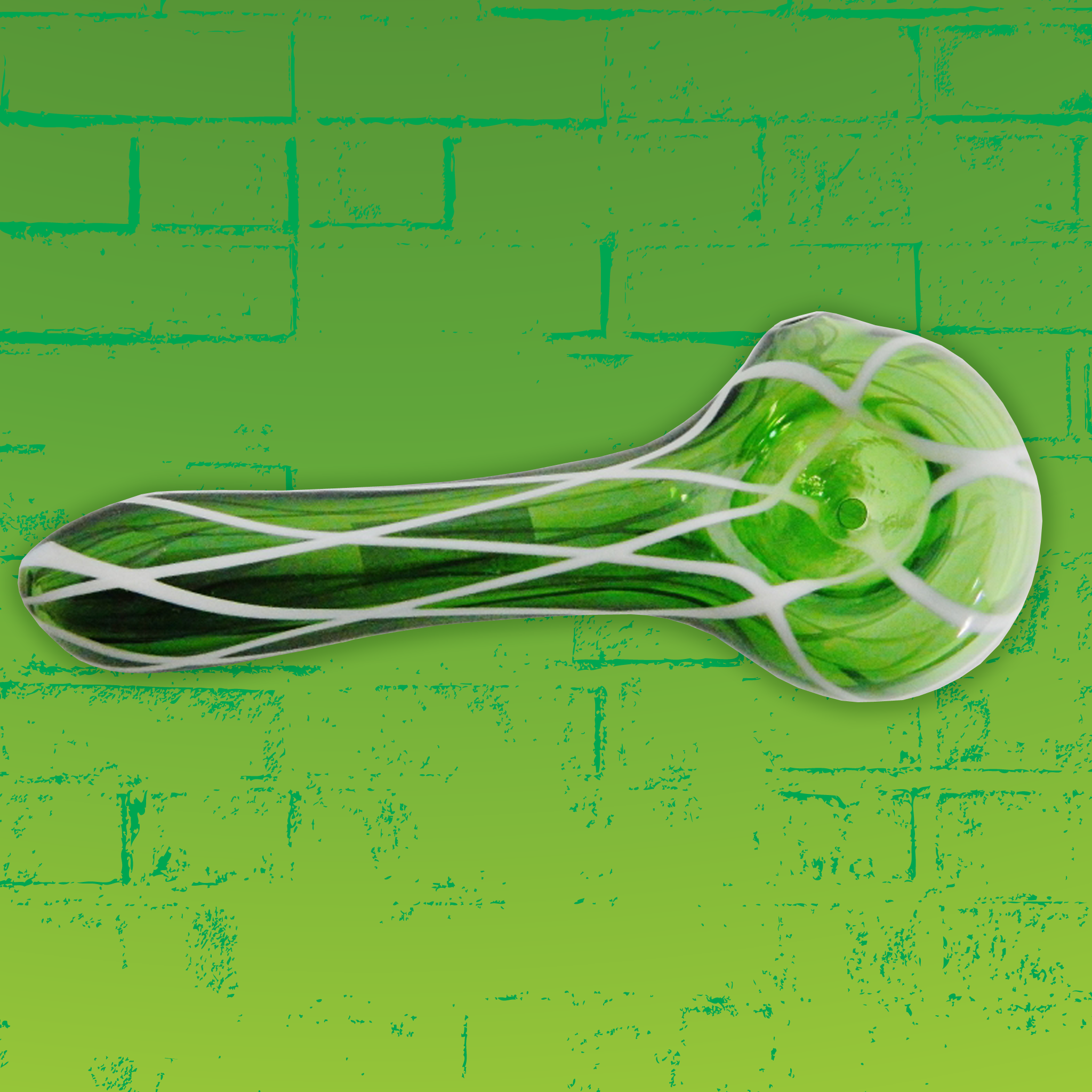 Phresh Picks Green Reticello Spoon