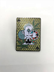 Queen Of Clubs Dabs Dabbin Dan Hat Pin