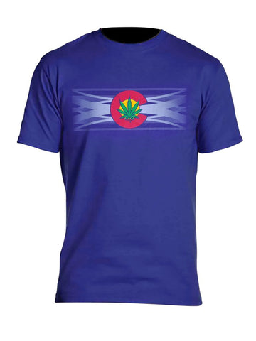 Retro Colorado Pot Leaf Flag Myxed Up T-Shirt