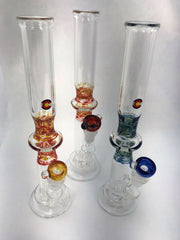 Strait Tube Low Surface Perc MD Glass Water Pipe