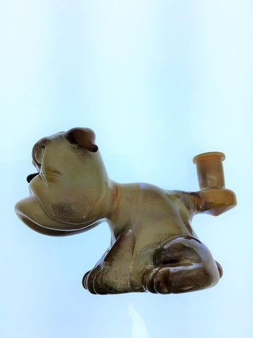 Swanny Glass Brown Bulldog Oil Rig