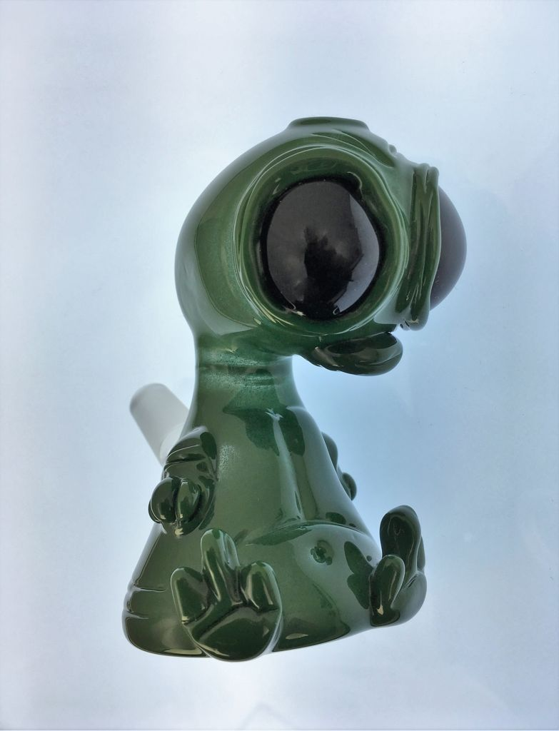 Swanny Glass Green Alien Oil Rig