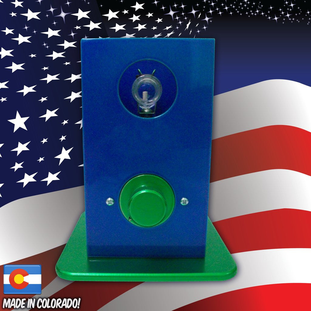 THe Can Vapor System desktop vaporizer Blue and Green