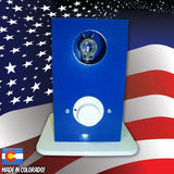 THe Can Vapor System desktop vaporizer Blue and White