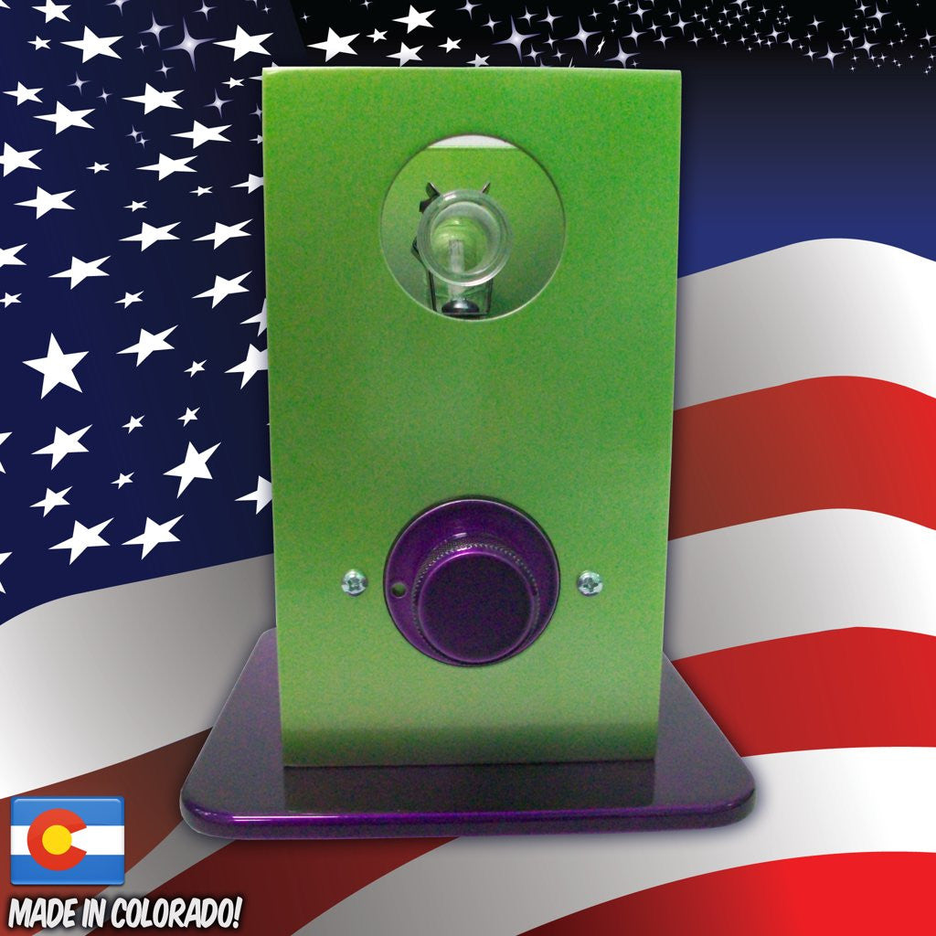 THe Can Vapor System desktop vaporizer Green and Purple