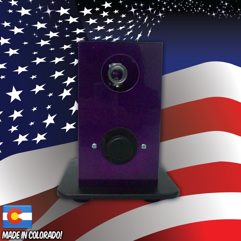 THe Can Vapor System desktop vaporizer Purple and Black