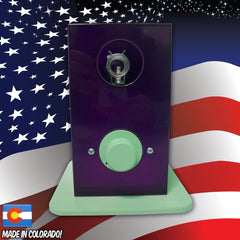THe Can Vapor System desktop vaporizer Purple and Seafoam Green