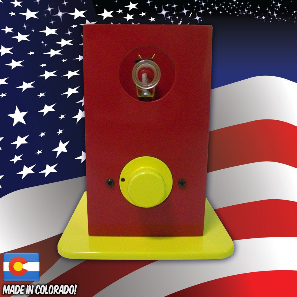 THe Can Vapor System desktop vaporizer Red and Yellow