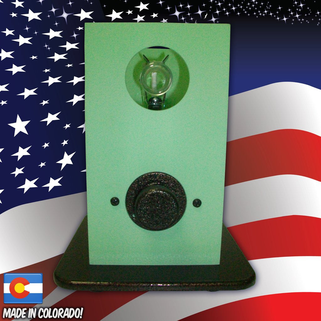 THe Can Vapor System desktop vaporizer Seafoam Green and Textured Bronze