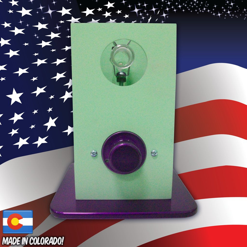 THe Can Vapor System desktop vaporizer Seafoam Green and Purple