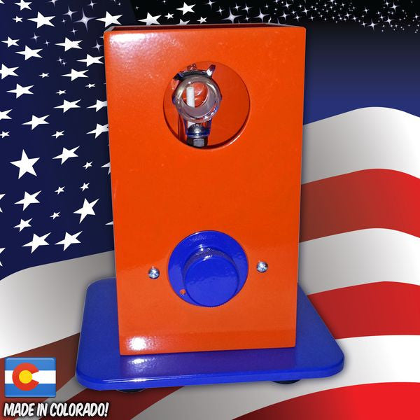 The Can Desktop Vaporizer Orange Blue Broncos