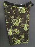 Weed Leaf Board Shorts Black
