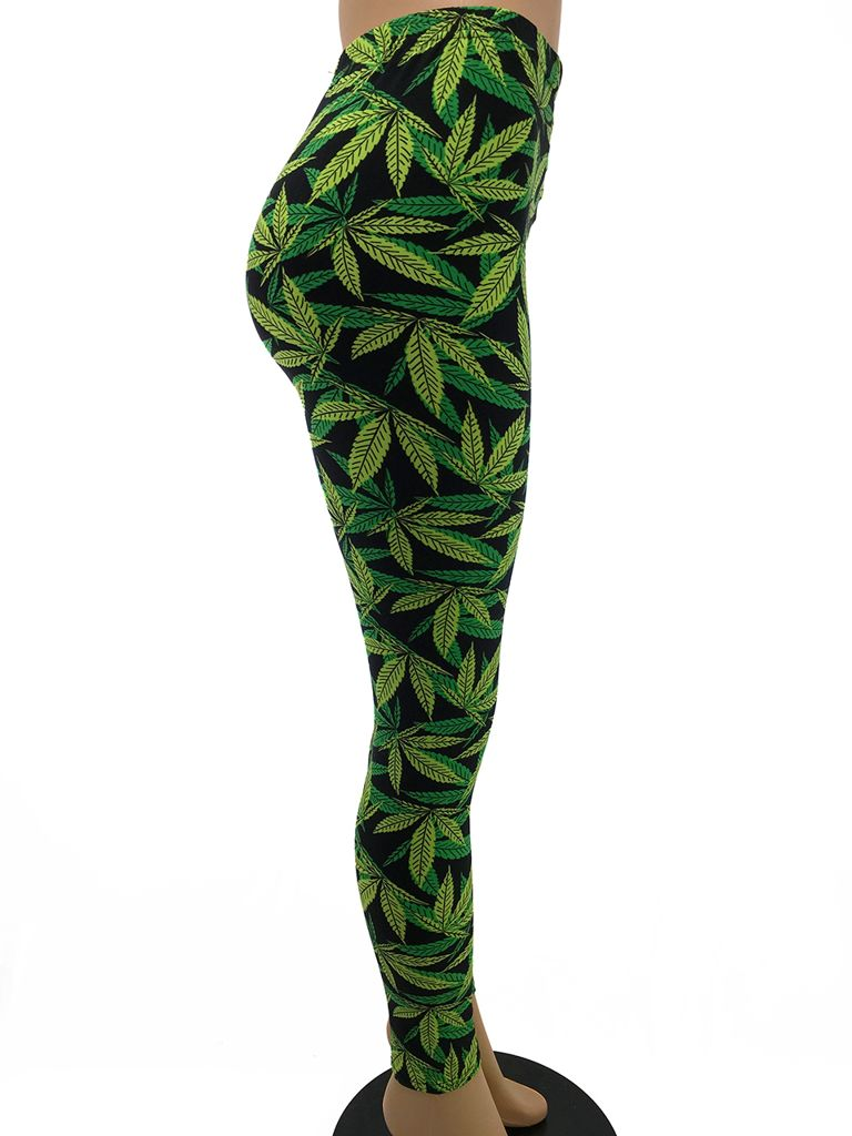 Weed Leaf Leggings Myxedup Com Glass Pipes