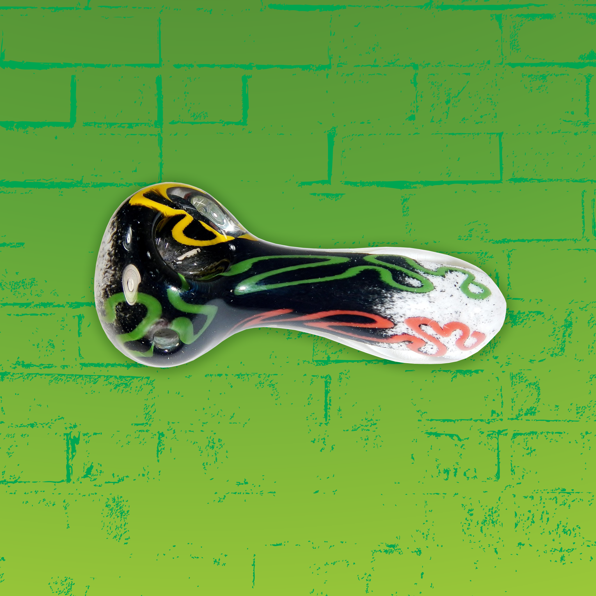 Zong Rasta Colors Swirl Spoon