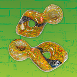 Zong Red,Green, & Yellow Donut Style Spoon with Dicro Swirl