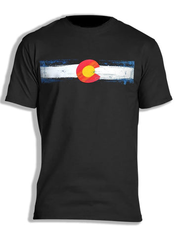 Colorado Flag Stripe Myxed Up T-Shirt