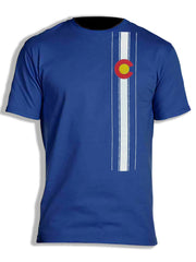 Colorado Flag Vertical Stripe Myxed Up T-Shirt