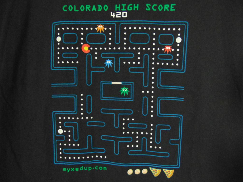 colorado marijuana pac-man shirt