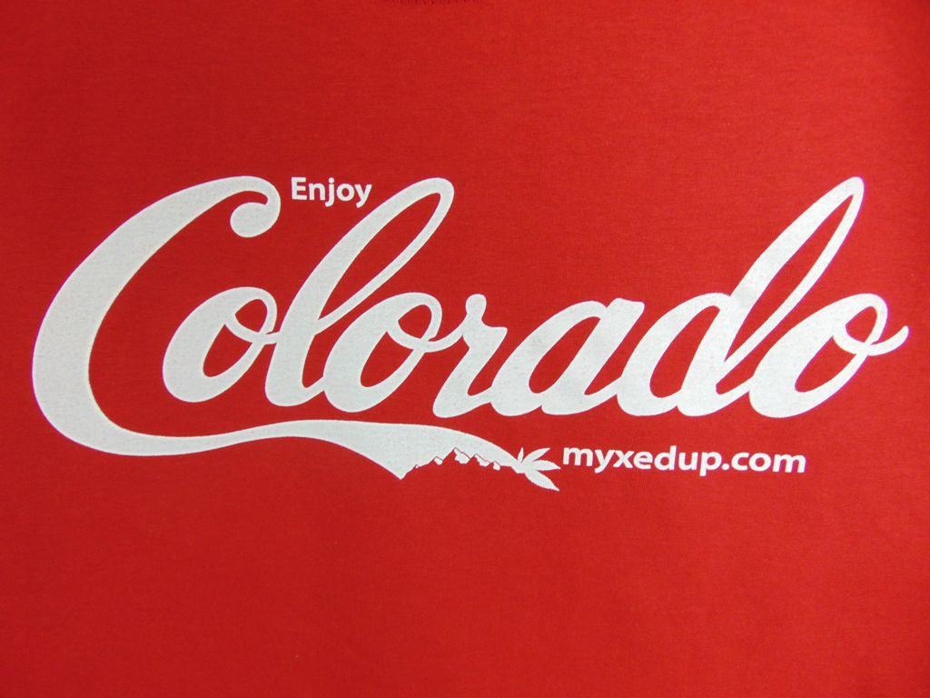 Enjoy Colorado coca-cola logo shirt design