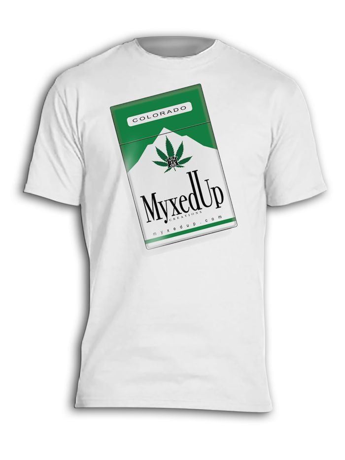 Myxed Up Cannabis Cigarettes pack t-shirt