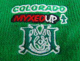myxed up earflap hat embroidered logo detail