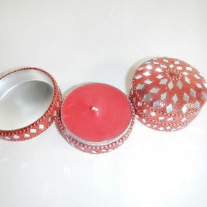 Red Sparkle Mirror Candle