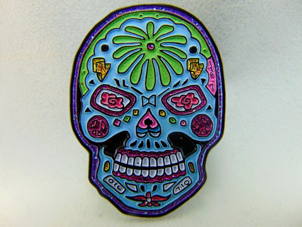 Dabbin' Dan Sugar Dab Night Trip sugar skull Hat Pin
