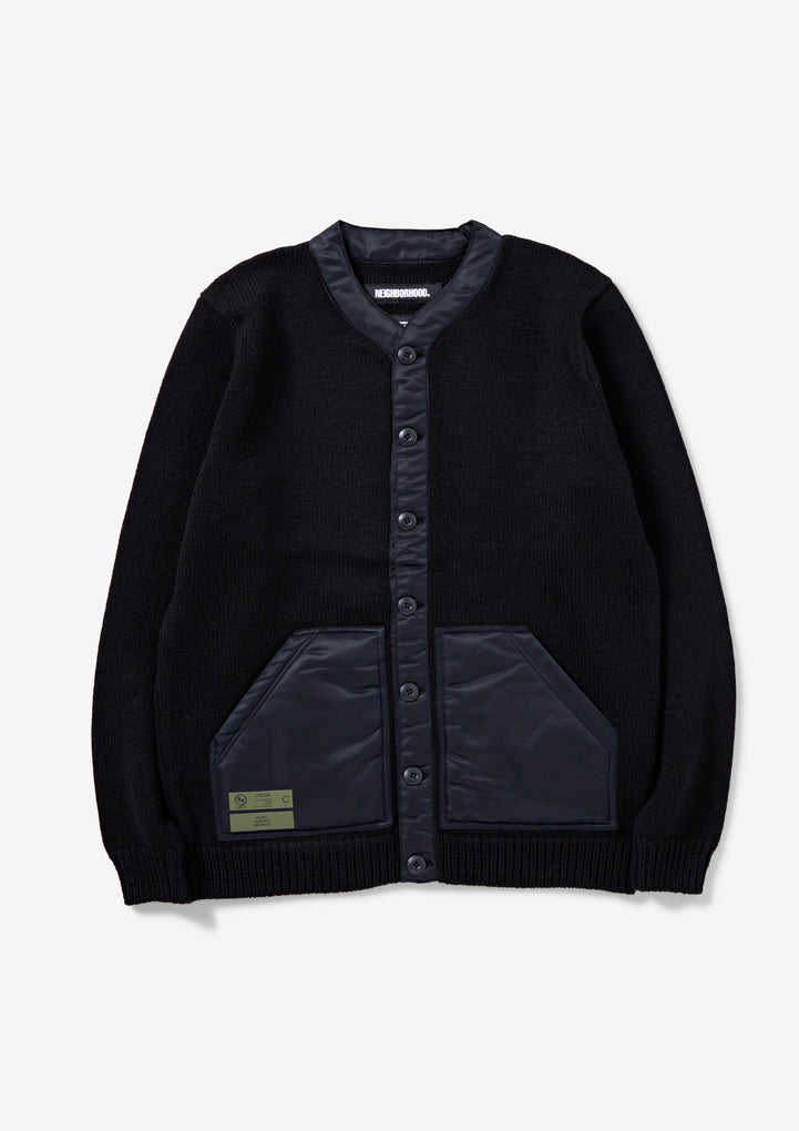 TACTICAL CARDIGAN / AW-KNIT . LS
