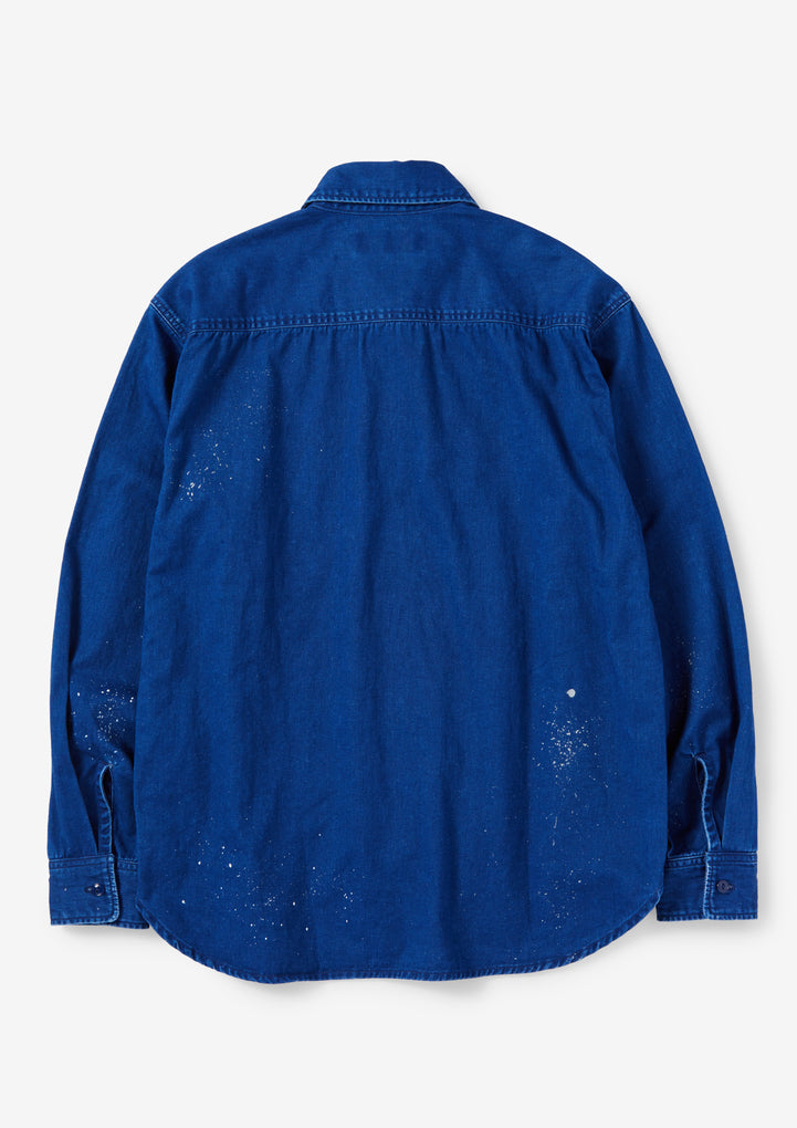 INDIGO WORK / C-SHIRT . LS
