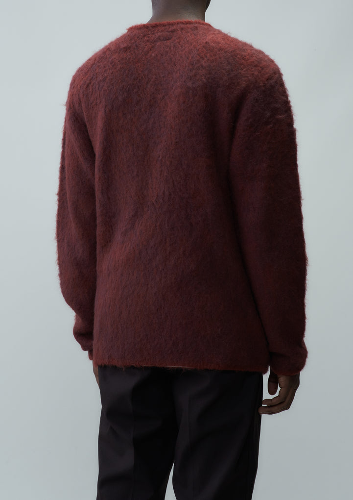 MOHAIR CARDIGAN / NA-KNIT . LS