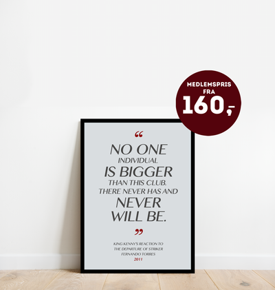 """No one is bigger"" - Plakat"