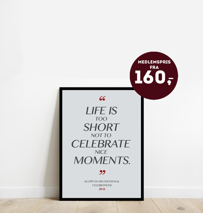 """Life is too short"" - Plakat"