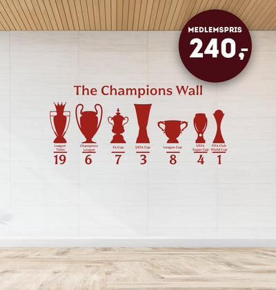 The Champions Wall - Wallsticker
