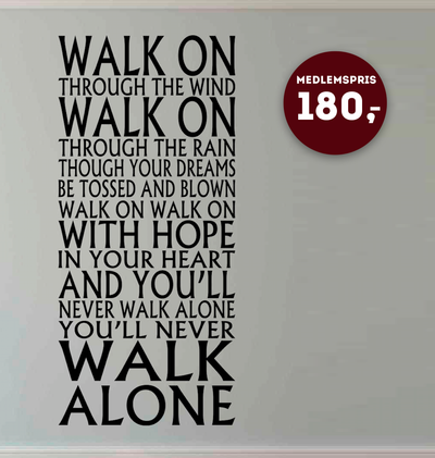 YNWA - Wallsticker